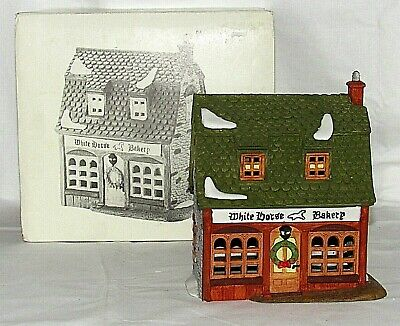 Vintage Dept 56 Dickens Village Series White Horse Bakery No Light 5926-9