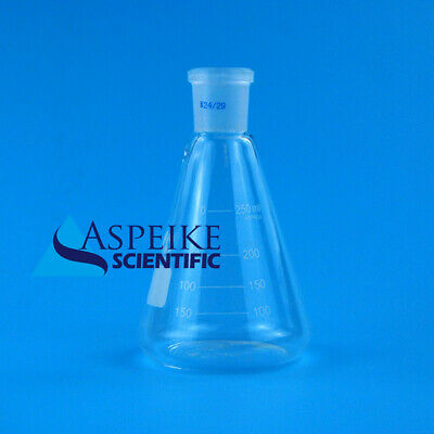 250ml,Lab Glassware Erlenmeyer Flask,Groud Joints 24/29,Lab Triangle flask S