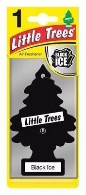 Magic Tree Little Tree Black ICE Scent Fragrance Car Van Air Freshener Pack