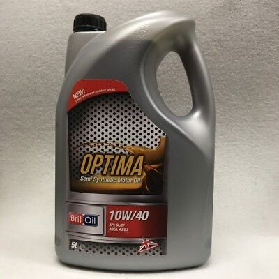 10W40 10 40 Semi Part Synthetic Motor Engine Oil Sae Car Van Vehicle 5 Litre 5L
