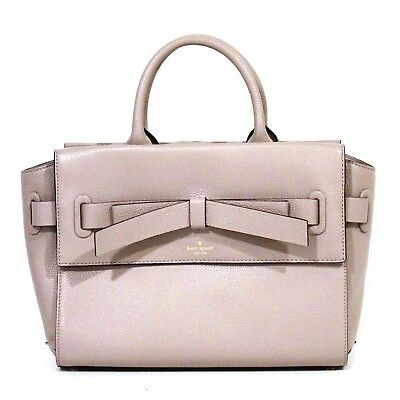 fd612f699010 KATE SPADE Natala Satchel Grey AVALON PLACE Leather Mousse Frost PURSE NWT   379