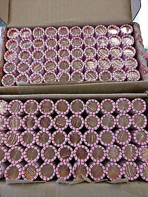 2017 P & D Original Bank Wrapped Lincoln Penny Cent Rolls - 1 Of Each