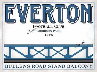 100 X EVERTON Ultra Style Stickers inspired by EFC Goodison