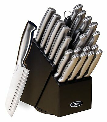 NEW Stainless Steel Knife SET Complete Chef Cutlery Block Steak KNIVES 22 PIECE