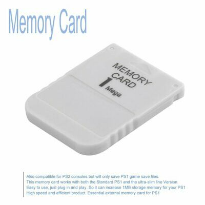 1MB Memory Card For Sony Playstation 1 PS1 PSX Game Save Load Restore Card F1