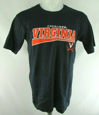 e8845f03 Virginia Cavaliers Old Varsity Brand Men's Medium Navy Embroidered Shirt  NCAA