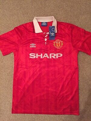 Manchester United Home Shirt 1992 Umbro. Red Adults Man Utd MUFC Giggs Cantona