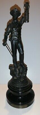 Le Mineur Lacquered Spelter Statue.