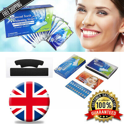 28 Professional Teeth Whitening Strips Activated Charcoal Safe Tooth Bleaching!