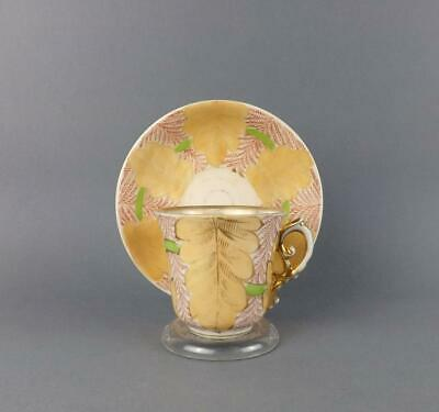 Antique Imperial Russian Fine Porcelain Cup and Saucer by Kuznetsov 1891-1917