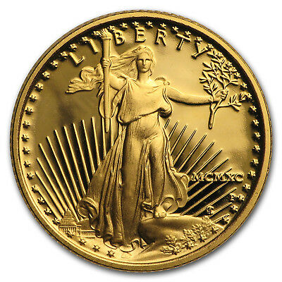 1990-P 1/10 oz Proof Gold American Eagle (Capsule Only) - SKU#28681