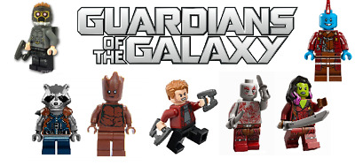 Brand new Set of Custom Lego Minifigures Original Guardians of the Galaxy