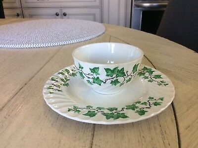 Burleigh ware-Burgess & Leigh green ivy cup and saucer