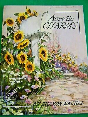 Acrylic Charms V1 By Sharon Rachal 1994 Scheewe  Landscapes Country Paint Book