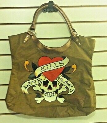 3c6556302acc Women s Large Tote Christian Audigier Love Kills by Ed Hardy (P00119)