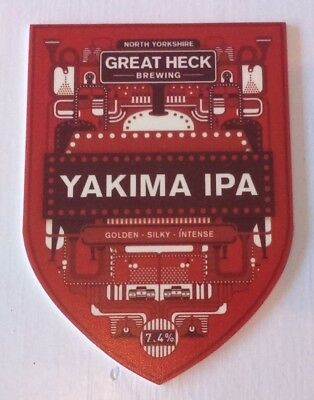 GREAT HECK brewery YAKIMA IPA cask ale beer pump clip badge front Yorkshire NEW