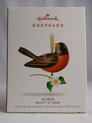 HALLMARK 2018 Robin Ornament NIB - 14th in The Beauty of Birds Series NEW