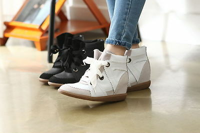 Womens High Top Fashion Shoes Casual Comfortable Stylish Leather Girls