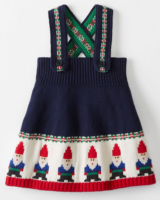 62c4e43024 NWT Sz 80 Hanna Andersson Gnome Sweet Gnome Sweater Dress Navy US 18 - 24  Months