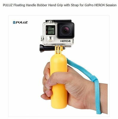 PULUZ Floating Handle Bobber Hand Grip w/ Strap for GoPro Cameras Water Sports