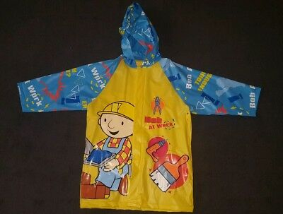 Bob the Builder childrens raincoat size 3-5 perfect for school great condition