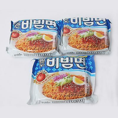 3 Pack Korean Instant Cold Stir Noodle Spicy Sweet Seasoning Bibim Ramyun Paldo