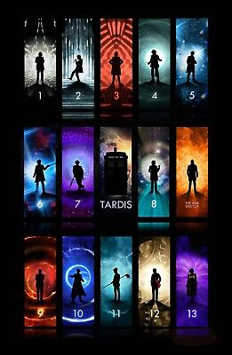 "Large Movie Poster 24x36/"" Dr Who all 13 Doctors including 13th Doctor"