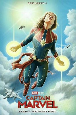 "Captain Marvel - Earth's Mightiest Hero - Small Movie Poster - 16""x24"""