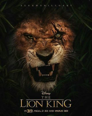The Lion King 2019 Teaser Scar Small Movie Poster 16x24