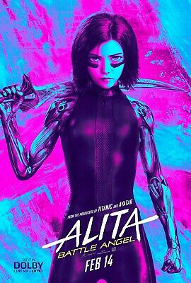 Alita Movie Poster Battle Angel Teaser Canvas 20X30 Glossy Photo Paper 24X36