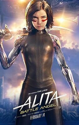 Alita Battle Angel - Large Movie Poster Framed Canvas or Glossy Photo Paper