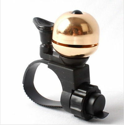 90dB Mini Invisible Brass Bicycle Bell Ringer Bike Handlebar Ring Safety _VG