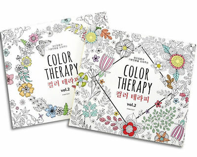 Color Therapy Anti Stress Coloring Painting Books Adult Relaxation Colouring_V