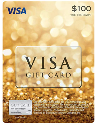$100 GIFT CARD no fee after purchase (Non-Reloadable)