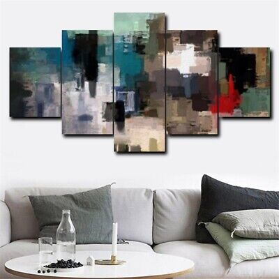 5Pcs Abstract Oil Wall Painting HD Canvas Art Picture Modern Office Home Decor