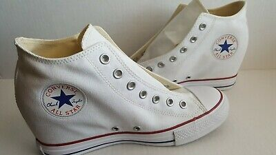 c12439af703a Converse Chuck Taylor All Star Lux Wedge Mid Women s Style 547200F White  Sz10.5