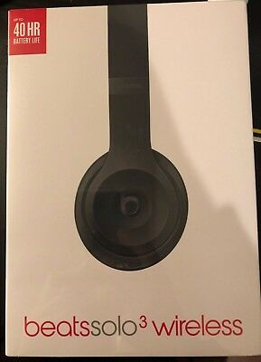 Beats by Dr. Dre Solo3 Wireless Over the Ear Headphones - Matte Black  NEW