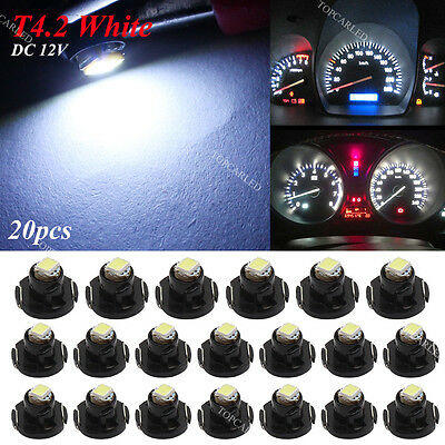 20x White T4.2 Neo Wedge LED Cluster Instrument Dash Climate Base Light Bulb 12V