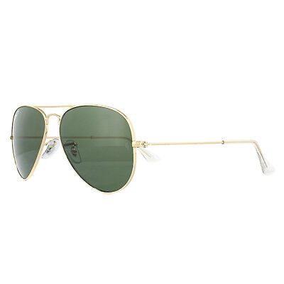 25cd852de6 Ray-Ban Sunglasses Aviator 3025 001/58 Gold Green Polarized Small 55mm