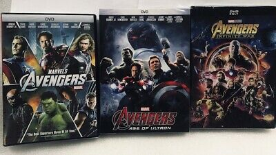 Avengers 3 Movie Collection Age of Ultron, Infinity War New Sealed Marvel  Deal
