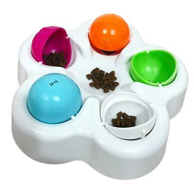 Interactive Pet Dog Cat Puzzle Slow Eating Feeder Bowl Puppy Food Training Toy
