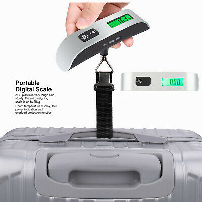 Travel LCD Digital Hanging Luggage Scale Electronic Weight 110lb/ 50kg Portable