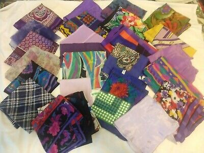 Lot of 30 Women Assorted Scarves - Purple shades