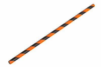 Black and Orange Paper Straws 250 - Biodegradable & Recyclable Drinking Straws