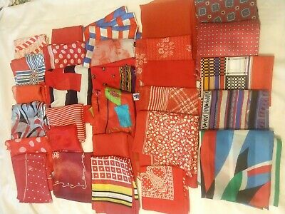 Lot of 40 Women Assorted Scarves - Red shades