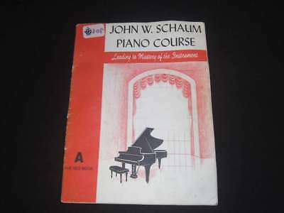 Piano Course A - The Red Book, John W. Schaum, 1945, Belwin, Accept