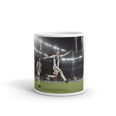 Tazza Cristiano Ronaldo Champions League Juve Cr7 Bianca In Ceramica Idea Regalo