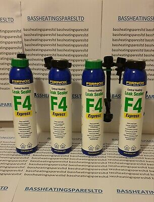 Fernox Express F4 Leak Sealer x 4 265ml brand new with both nozzles