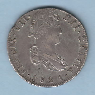 Mexico - Zacatecas. 1821-RG 8 Reales..  Part Lustre..  gVF/aEF