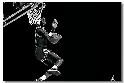 Poster Michael Jordan MJ 23 MVP Last Shot Utah Basketball Stars Cloth Print 514